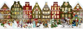 Nostalgisches Häuserleporello, Adventskalender