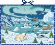 Tiere der Arktis, Wand-Adventskalender