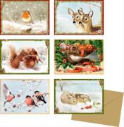 Zauberhafte Winterzeit, Miniatur-Adventskalender sortiert