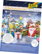 Adventskalender Winterlandschaft Geschenkschachteln