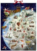 Der Dienstplan des Weihnachtsmanns, Wand-Adventskalender (Behr)