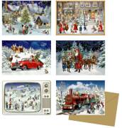 Nostalgische Adventszeit, Miniatur-Adventskal.-sortiert  (Behr)