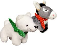 Eisbär & Esel zum Aufziehen  Fröhliche Weihnachten, sort.