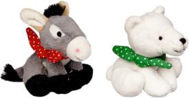 Eisbär & Esel mit Sound  Fröhliche Weihnachten, sort.