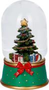 Leucht-Schneekugel aus Glas Weihnachtswunder