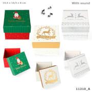Weihnachtsgeschenkbox mit Sound klein