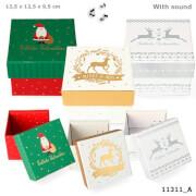 Weihnachtsgeschenkbox mit Sound mittel