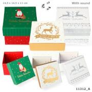 Weihnachtsgeschenkbox mit Sound groß