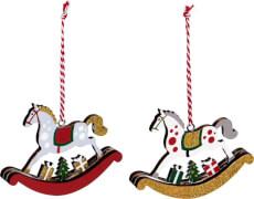 Schaukelpferd-Anhänger  Weihnachten, sortiert