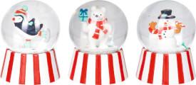 Mini-Schneekugel Fröhliche Weihnachten!, sortiert