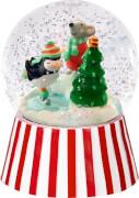 Glas-Schneekugel mit LED Fröhliche Weihnachten!