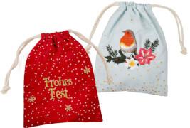 Stoffsäckchen Zauberhafte Weihnachten M.Bastin, sortiert
