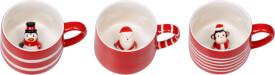 Porzellan-Tasse Fröhliche Weihnachten!, sortiert