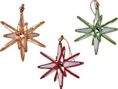 Spiegel-Sterne  Weihnachts-Anhänger, sortiert