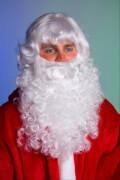 Nikolaus-Bart und -Perücke mattweiß