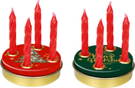 MIni Adventskranz Alle Jahre wieder …, sortiert