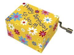 fridolin - Spieluhr - Happy Birthday - mit Blüten