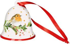 Weihnachts-Glocke Rotkehlchen Zauberh.Weihnachten M.Bastin