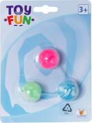 Toy Fun Flummi, 32 mm, 3 Stück auf Blisterkarte
