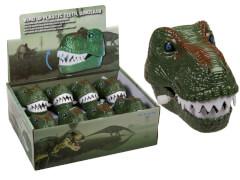 Aufziehbares Kunststoff-Gebiss vom Dinosaurier ca. 11,5cm