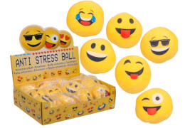 Antistress-Ball Emotion ca. 6 cm 6fach sortiert