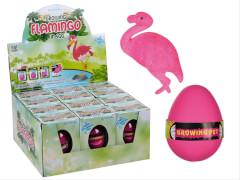 Wachsender Flamingo im Ei, ca. 6 cm