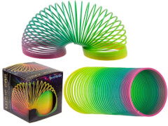 Kunststoffspirale Regenbogen 6,5cm
