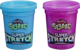 Hasbro E9444EU4 Play-Doh Slime Super Stretch, 2er Pack, sortiert