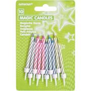 10 Magische Kerzen sortiert
