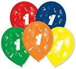 10 Latexballons Zahl 1 25,4 cm/10''