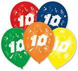 10 Latexballons Zahl 10 25,4 cm/10''