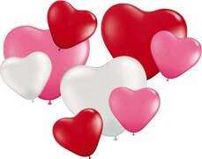 8 Herzballons, sortiert