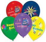 10 Latexballons Happy Birthday 25,4 cm/10''