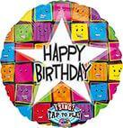 Sing-A-Tune Happy Birthday Gesichter Folienballon P60 verpackt