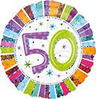 Standard Radiant Birthday 50 Folienballon S55 verpackt