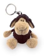 NICI Schaf Bean Bag Schlüsselanhänger, schwarz, ca. 10 cm