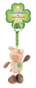 NICI Schwein rosa-braun Schlüsselanhänger, ca. 7 cm