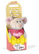 NICI Schlüsselanhänger Maus Emily 10cm mit T-Shirt pink
