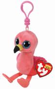 TY Key Clip Flamingo Gilda (Beenie Boo's), Plüsch, can 5x5x9 cm