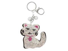 Schlüsselanhänger mit Straß  Katze (4)