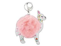 Schlüsselanhänger Lama Pompom rosa