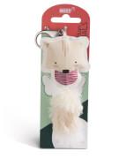 Katze beige 12cm Taschenanhänger Kunstleder