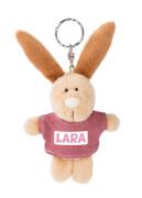 Hase Lara 10cm Bb Schlüsselanhänger mit T-Shirt