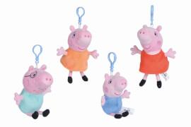 Simba Peppa Pig Plüsch Schlüsselanhänger, 4-sortiert