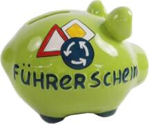 Sparschwein ''Führerschein'' - Kleinschwein von KCG - Höhe ca. 9 cm