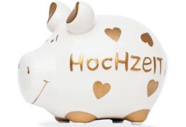 Sparschwein ''Hochzeit'' - Kleinschwein von KCG - Höhe ca. 9 cm