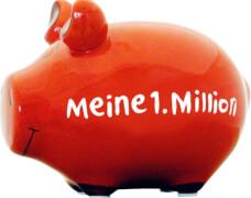 Sparschwein ''Meine 1. Million'' - Kleinschwein von KCG - Höhe ca. 9 cm