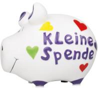 Sparschwein ''Kleine Spende'' - Kleinschwein von KCG - Höhe ca. 9 cm