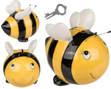 Spardose Biene mit Schloss aus Keramik