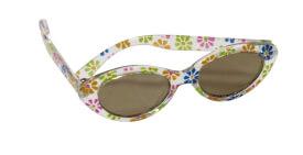 Götz 3401599 Puppen Sonnenbrille mit Etui, Blumenmuster